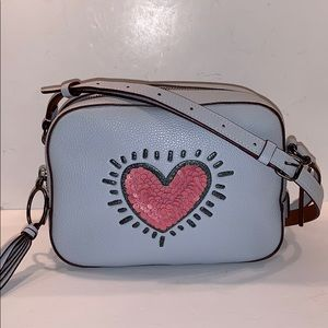 COACH Keith Haring Sequined Heart Camera bag 28661
